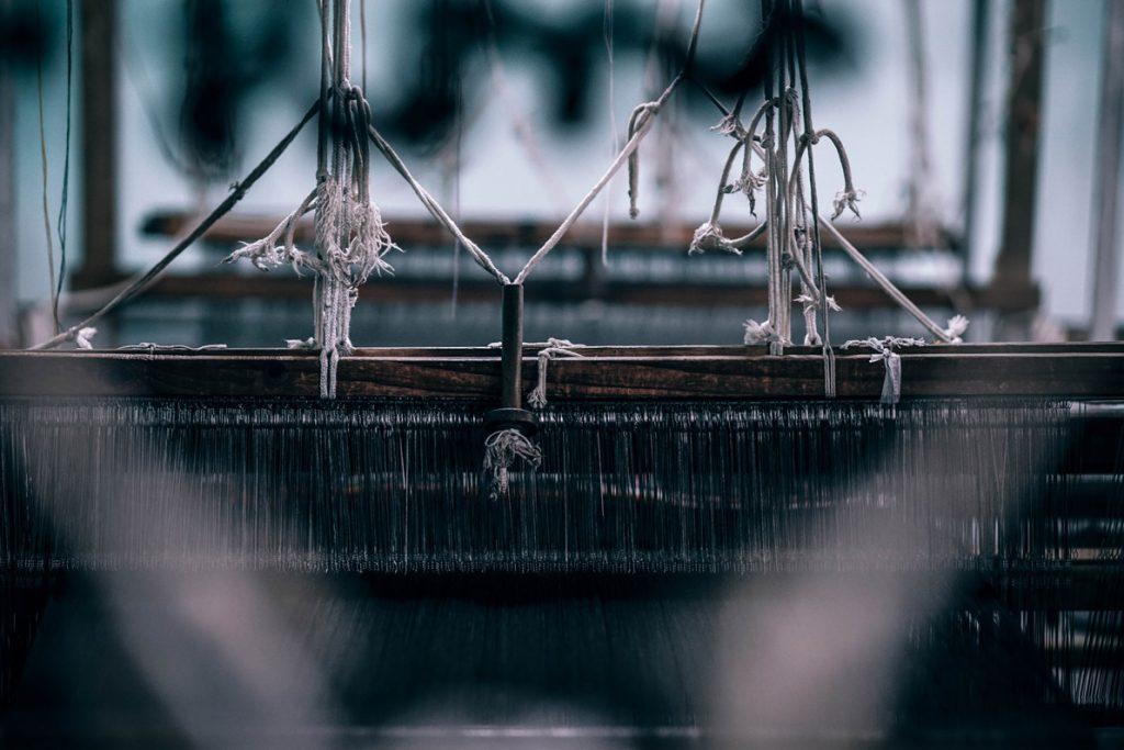 Máquina têxtil. de uma fábrica que visa ser crescimento da indústria têxtil.